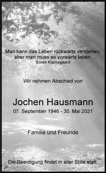 Traueranzeige von Jochen Hausmann von Rheinische Post