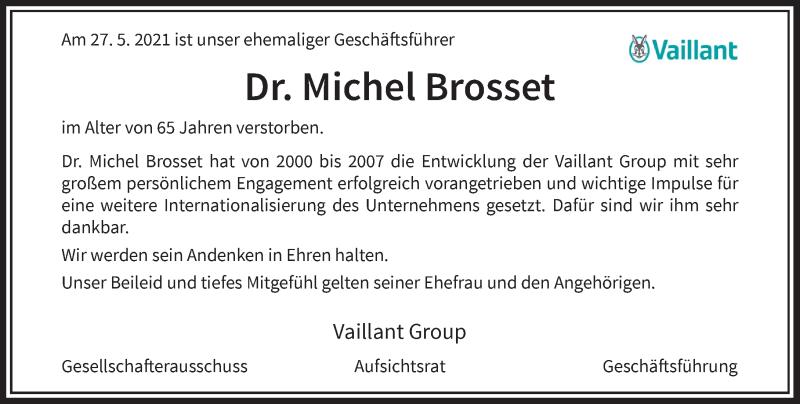 Traueranzeige für Michel Brosset vom 11.06.2021 aus Rheinische Post