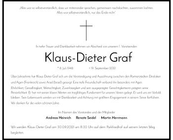 Traueranzeige von Klaus-Dieter Graf von Rheinische Post