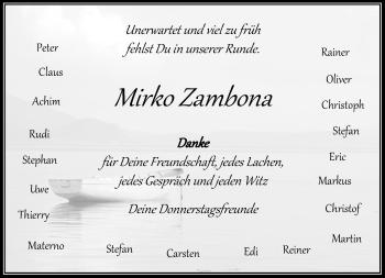 Traueranzeige von Mirko Zambona von Rheinische Post