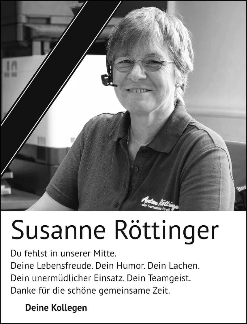 Traueranzeige für Susanne Röttinger vom 18.09.2021 aus Rheinische Post