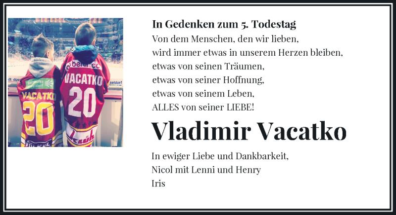 Traueranzeige für Vladimir Vacatko vom 11.09.2021 aus Rheinische Post