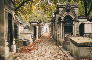 Der Friedhof Père Lachaise in Paris